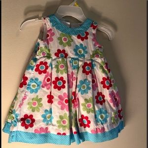 Two floral toddler girls dresses